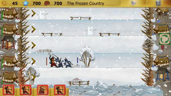 Ninja Cats screenshot - snow