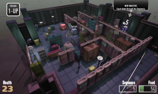 Not The Robots screenshot - purple room
