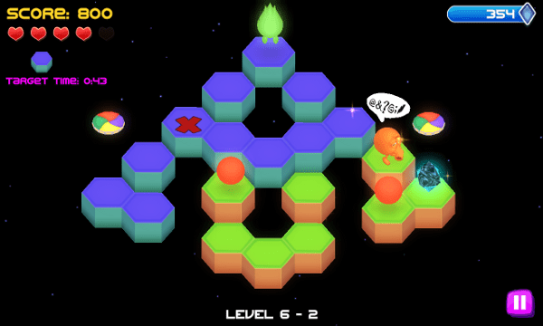 Qbert screenshot - level 6