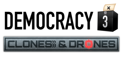 Democracy 3 clones and drones