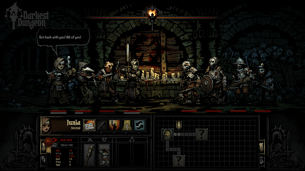 Darkest Dungeon screenshot courtesy of the official site