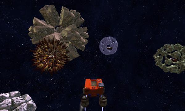 Crashed Lander screenshot - Space