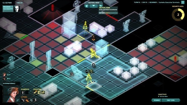Invisible, Inc.: tactical view