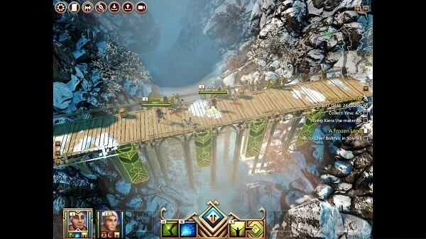 Kyn, mountain bridge scene