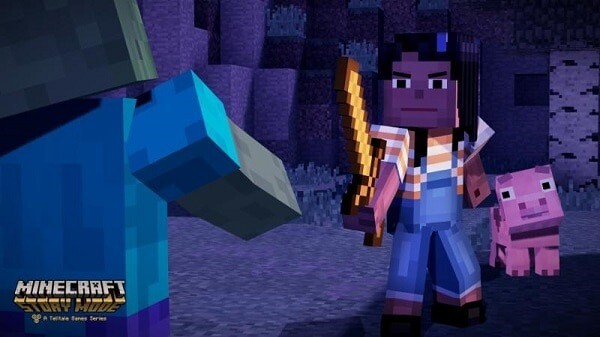 Minecraft: Story Mode, Jesse with a sword