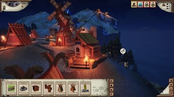 Valhalla Hills: night time in the village