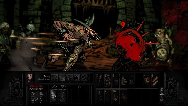 Darkest Dungeon game screenshot, Abomination