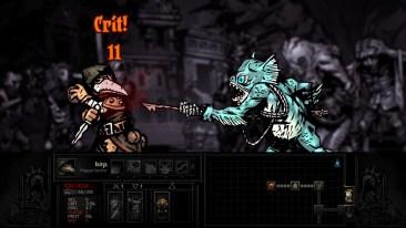 Darkest Dungeon game screenshot, fish monster