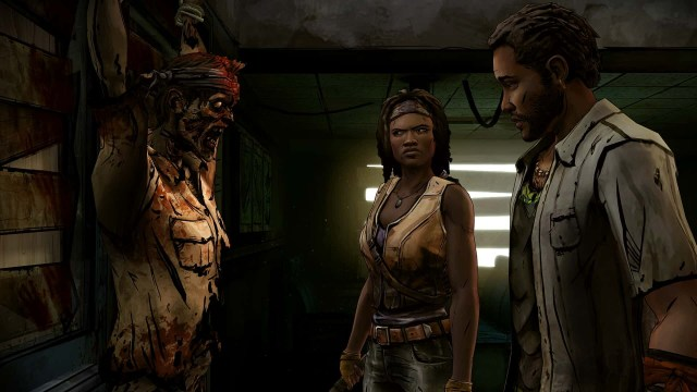 The Walking Dead: Michonne game screenshot, Pete and Walker