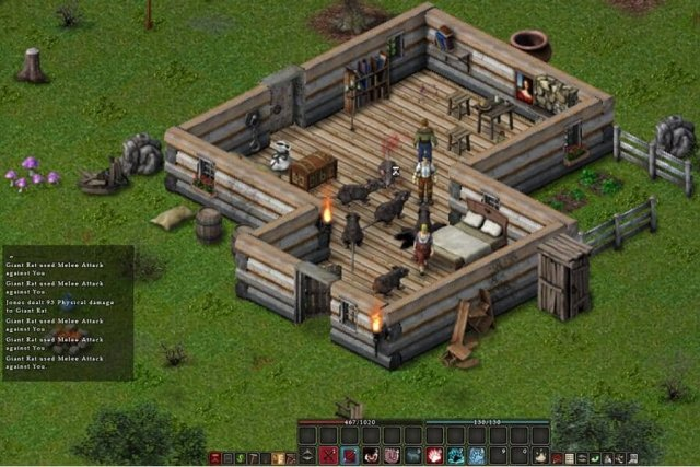 Balrum game screenshot, rat attack