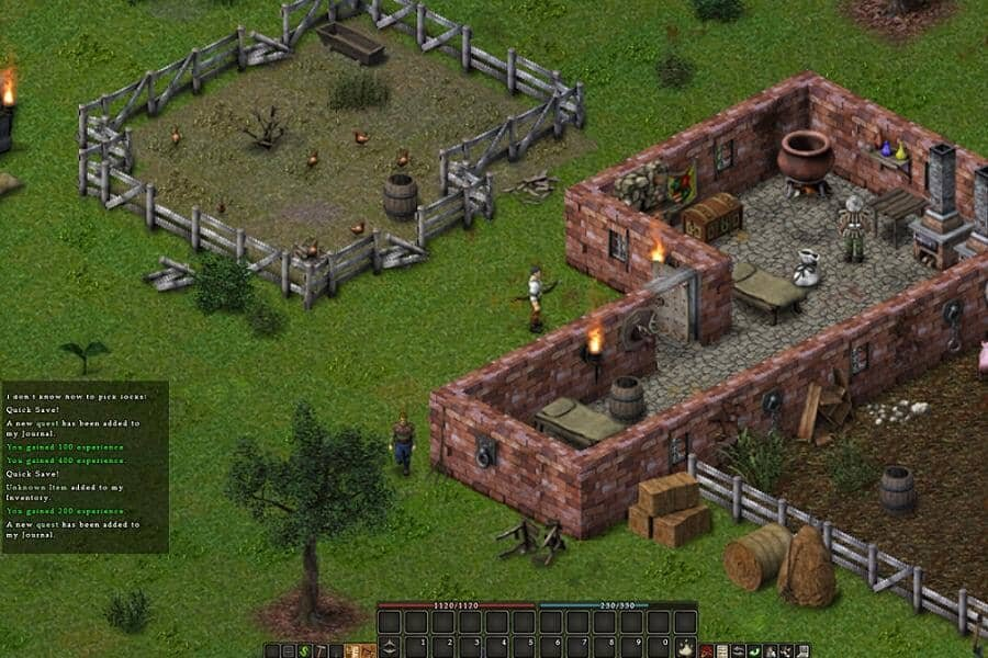 Balrum game screenshot, village