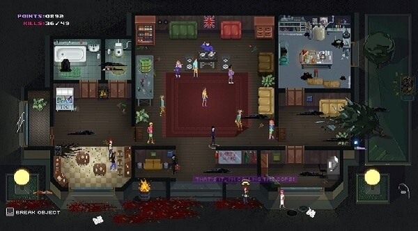 Party Hard game screenshot, House Party