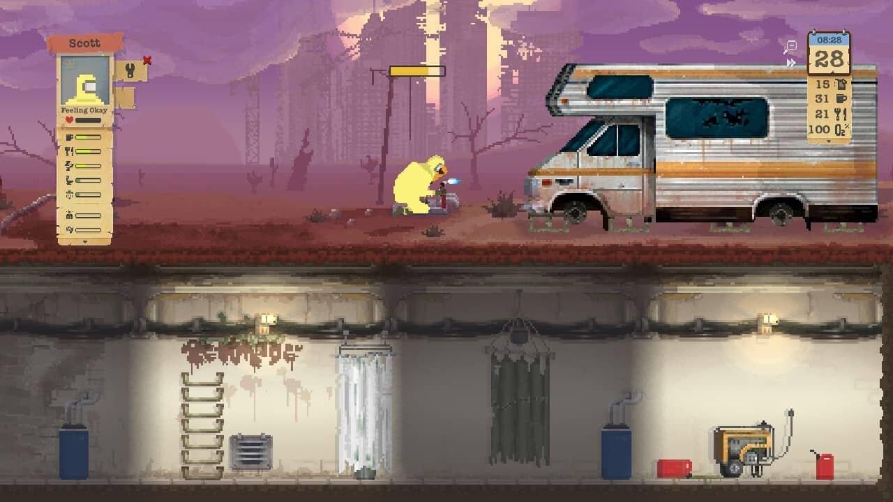 Sheltered game screenshot, repairs
