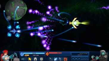Survive in Space game screenshot, boss fight