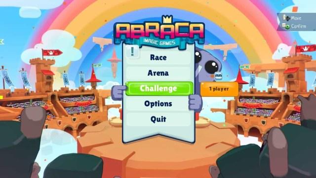 Abraca game screenshot, title