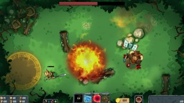 Flamebreak game screenshot, Minotaur boss