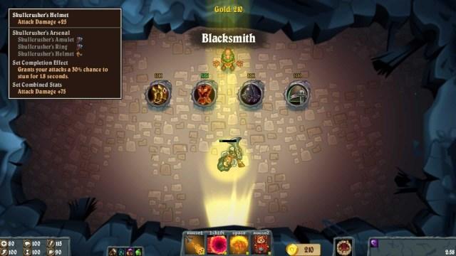 Flamebreak game screenshot, blacksmith