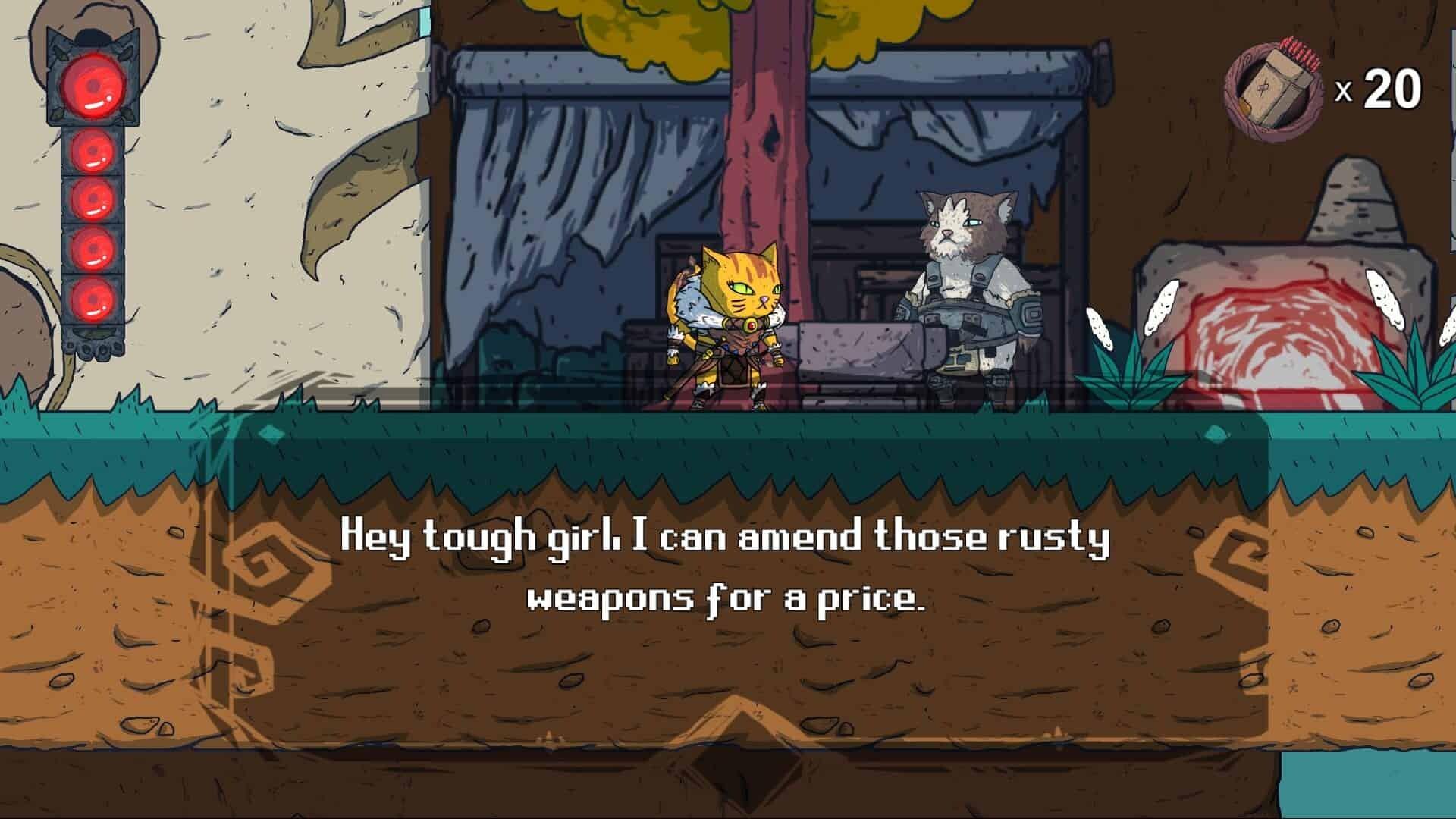 Hunter's Legacy game screenshot, blacksmith