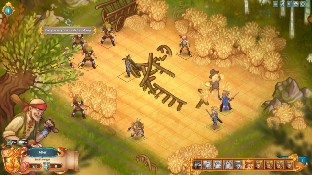 Regalia game screenshot, bandit fight