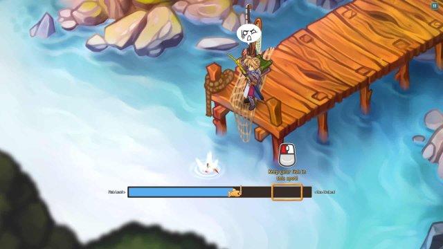Regalia game screenshot, fishing
