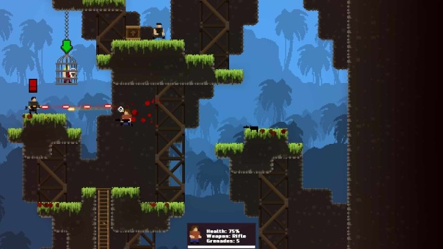 GunHero game screenshot, jungle