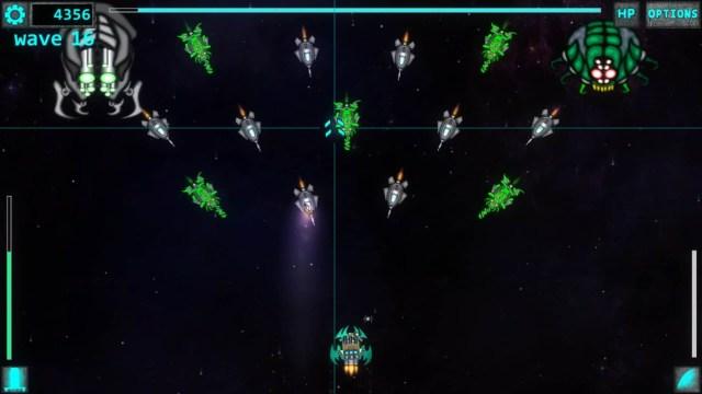 Space Ripper game screenshot, swarm