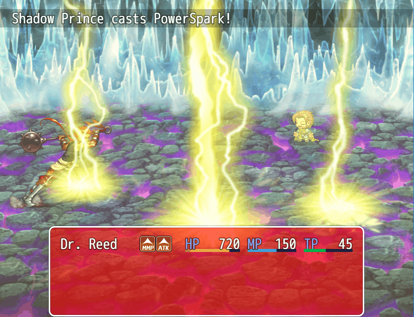 DreamQuest IX game screenshot, PowerSpark, courtesy itch.io