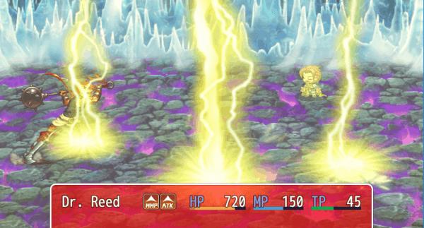 DreamQuest IX game screenshot, PowerSpark, courtesy itch.io