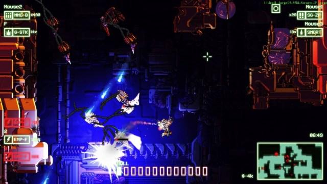 Cryptark game screenshot, drone swarm