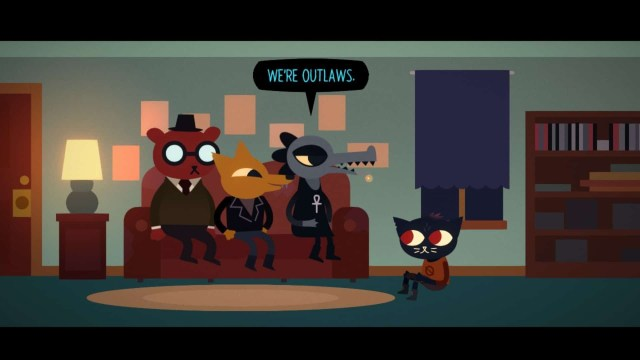Night in the Woods game screenshot, outlaws