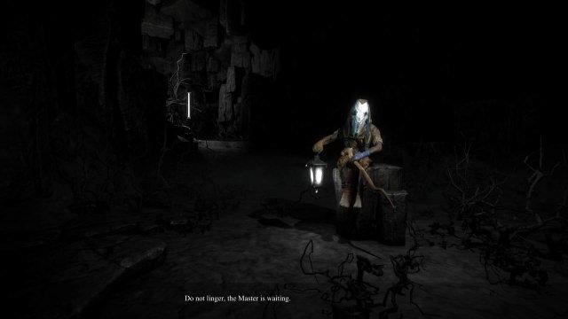 Caligo game screenshot, mysterious guide