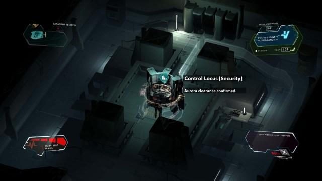 Divide game screenshot, hacking