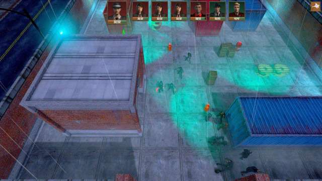Vigilantes game screenshot warehouse overhead view