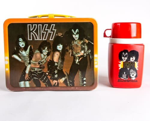 kiss lunchbox with matching thermos