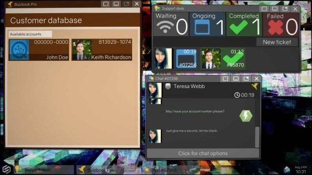 Tech Support: Error Unknown game screenshot, chat window