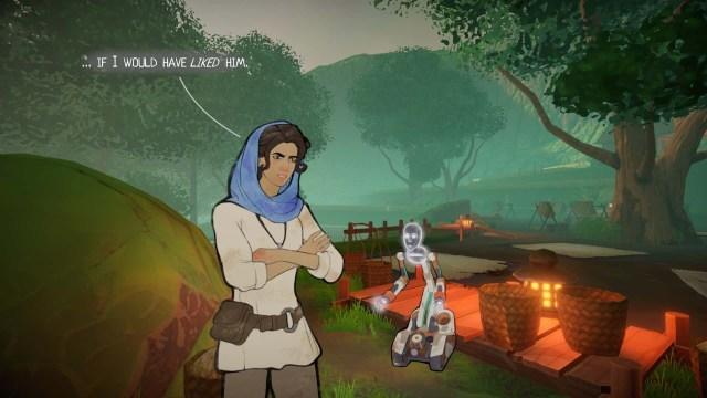 Heaven's Vault game screenshot, conversation