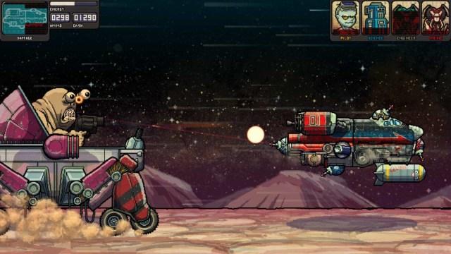 Fission Superstar X game screenshot, boss fight