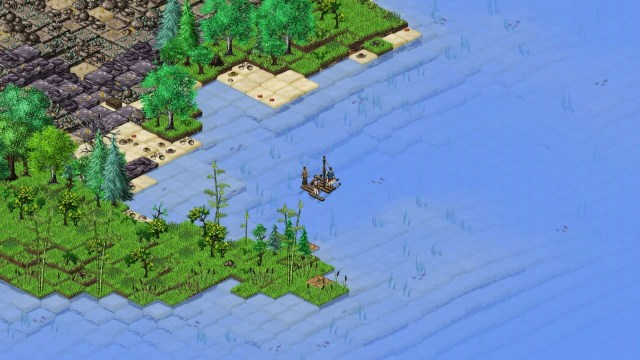 Landing on an island