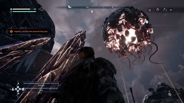 Fade to Silence game screenshot, The Eclipse overhead