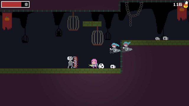 Spooky Ghosts Dot Com game screenshot, enemies