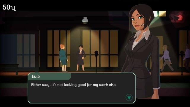Headliner: NoviNews game screenshot, conversation