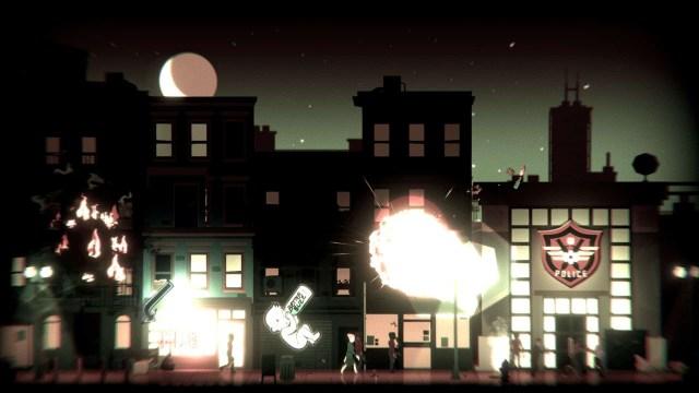 Headliners: NoviNews game screenshot, city rioting