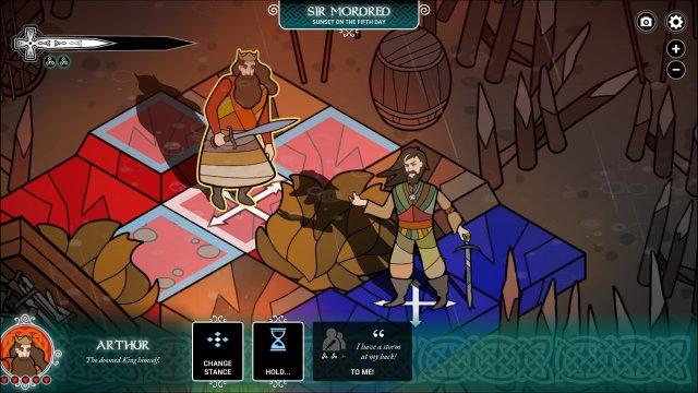 Pendragon game screenshot, Arthur and Mordred