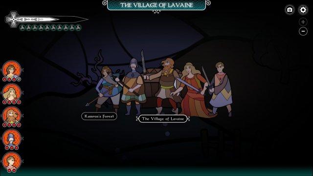 Pendragon game screenshot, world map