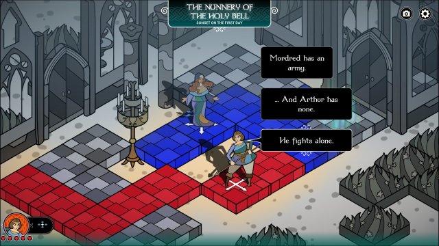 Pendragon game screenshot, storytelling