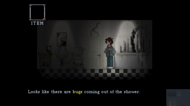 Shut In game screenshot 2, bugs in the bathroom