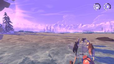The Red Lantern videogameThe Red Lantern videogame -dogs mushing across a frozen lake
