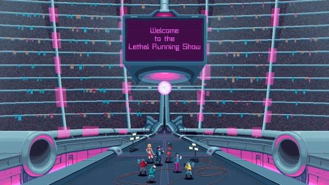 Lethal Running game screenshot, television intro