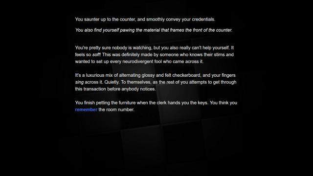 Deficit game screenshot, interactive text, image courtesy Gav Sarafian