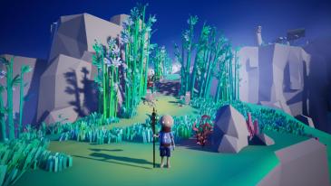 Omno game screenshot, Hillside